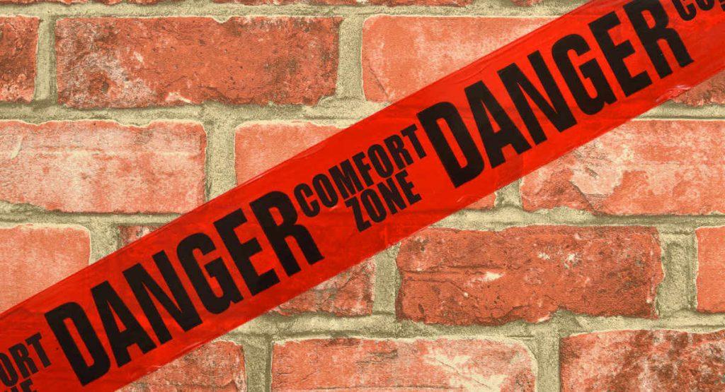 Comfort Zone-Danger tape