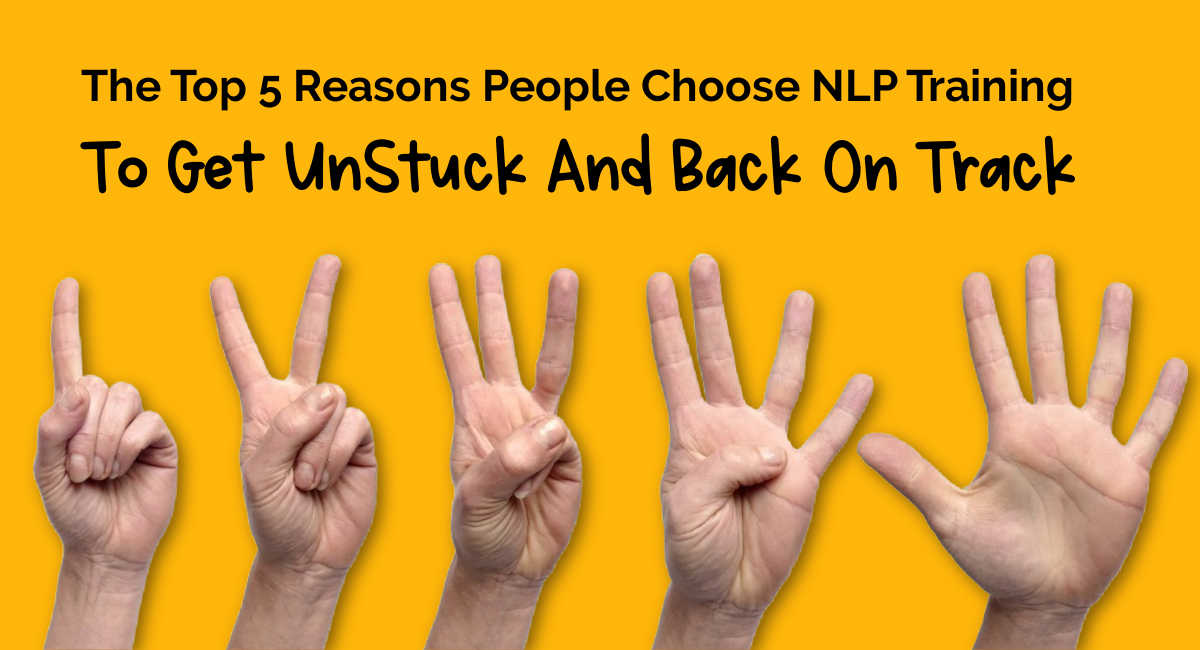 hand showing 5 top reasons people chose NLP Training