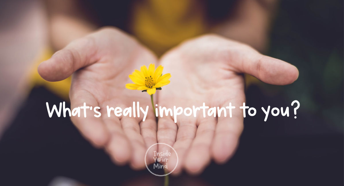 Hands with what's really important to you