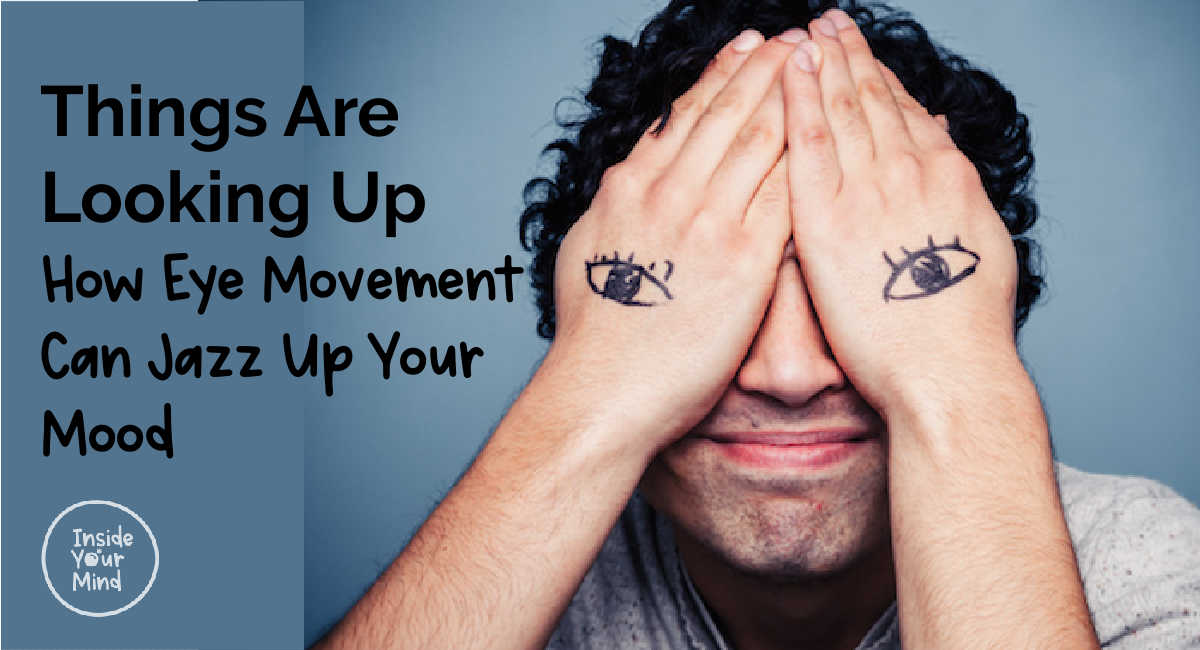 eye movement -Man with hands over yes