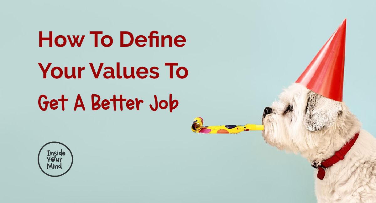 Birthday values and white dog