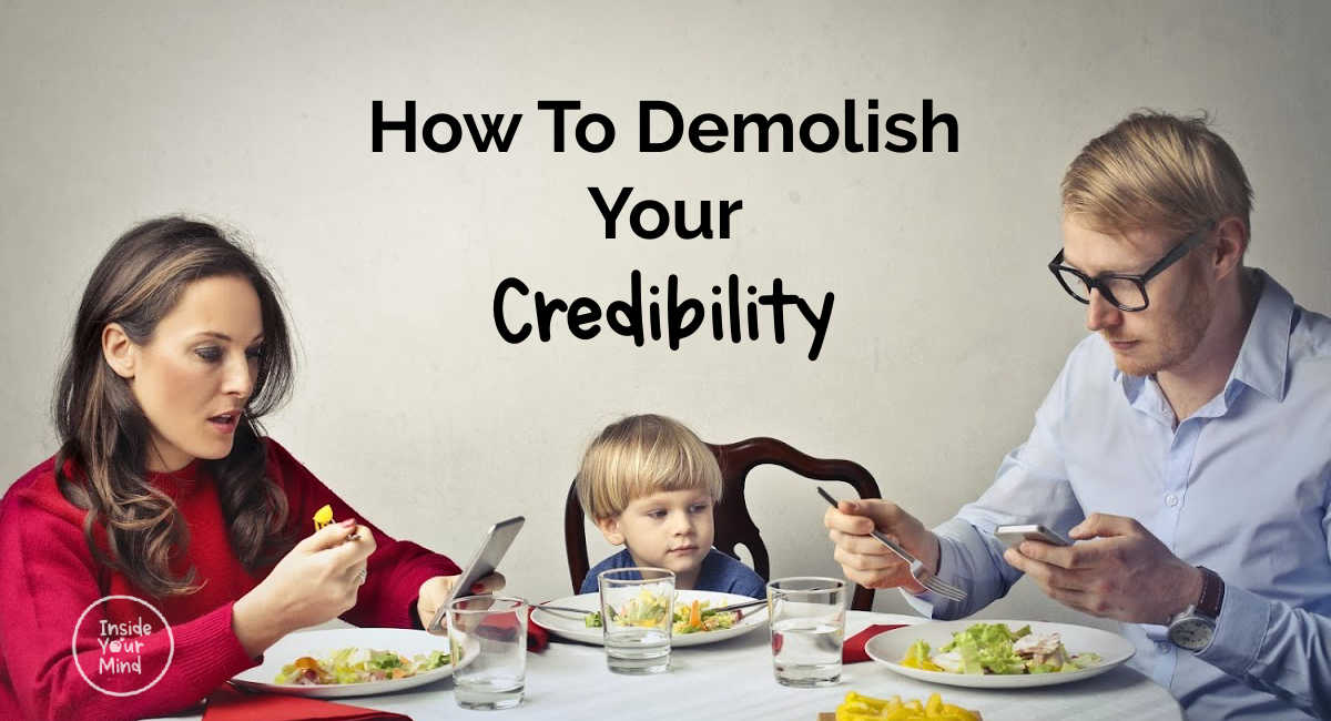 parents losing credibility with a child at mealtime
