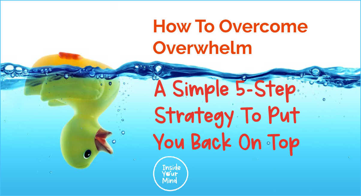 upside down rubber duck representing overwhelm