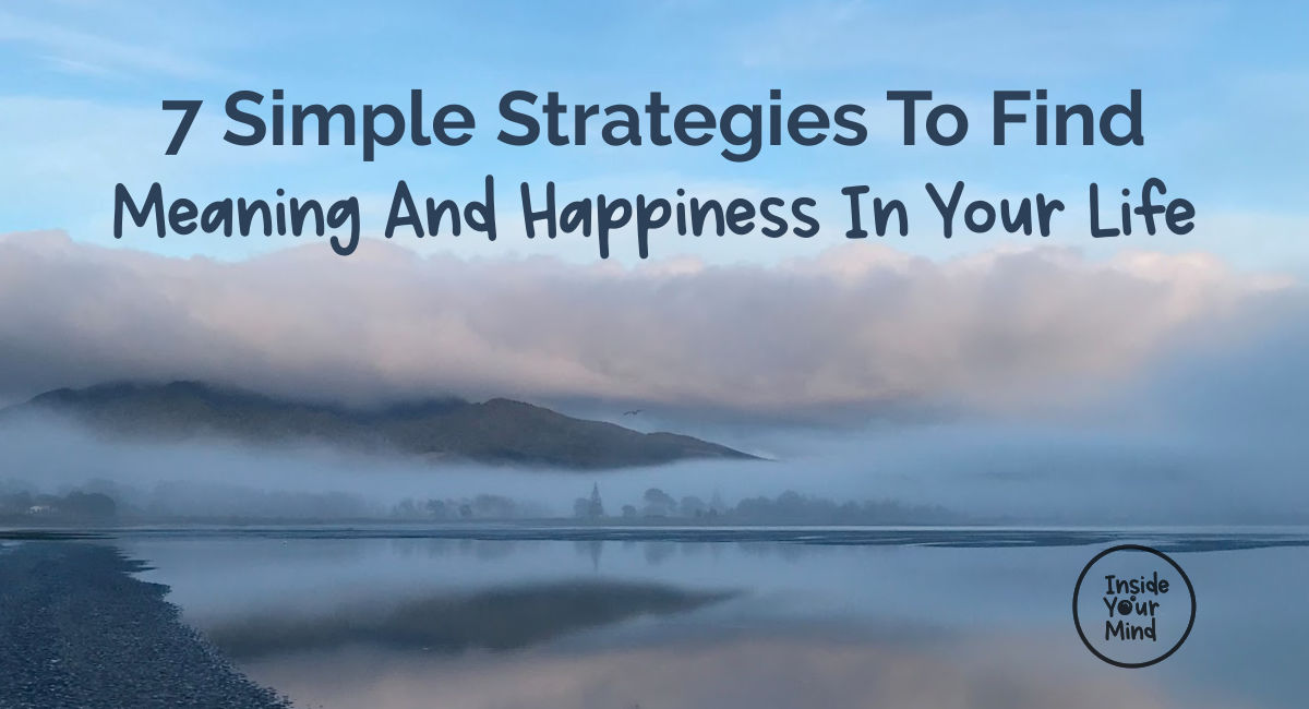 Meaning and happiness. Image of Raglan harbour with settling mist