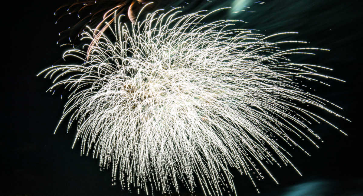 Enlightenment represented by fireworks