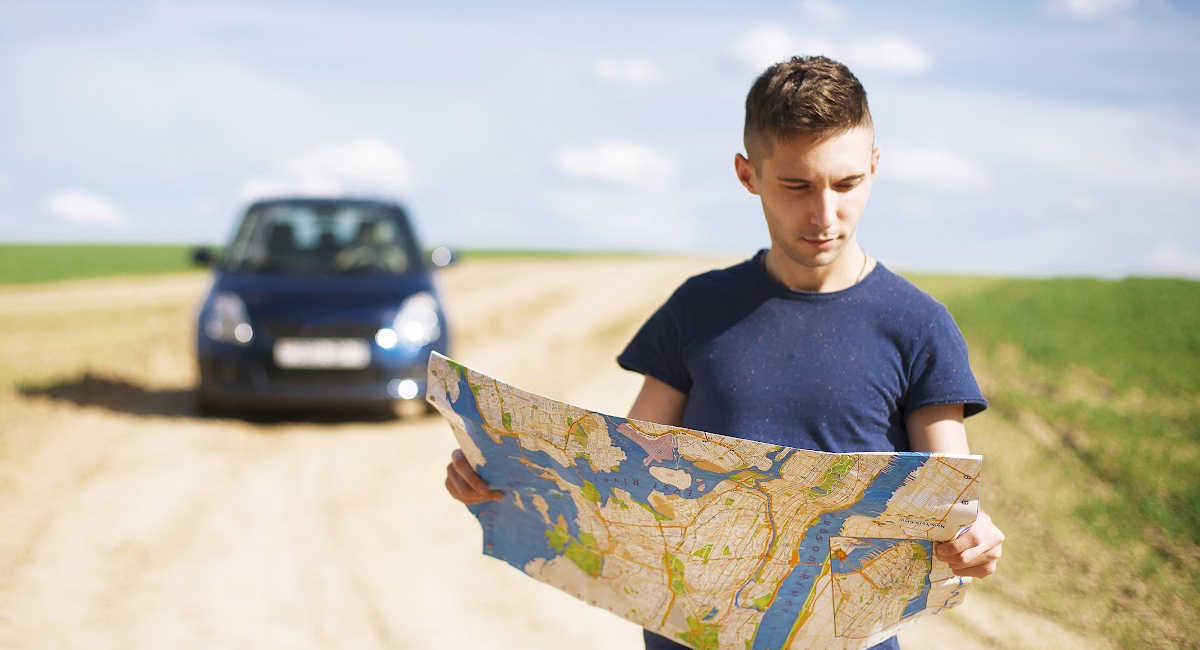Man lost on isolated road